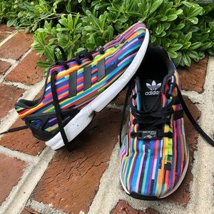 Adidas Torsion ZX FLUX muti-colored sneakers sz 5